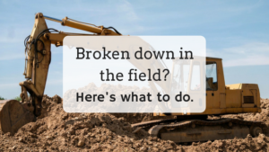 Broken down in the field_