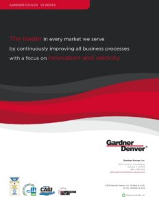 Gardner Denver VS Series: The Leader in Every Market